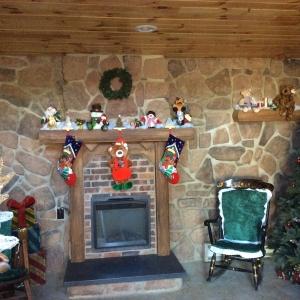 Fireplace in Allegany's Santa's House