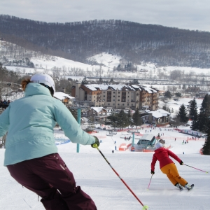 Skiers at Holiday Valley