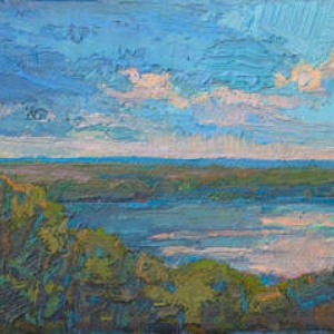 Painting by Thomas Paquette for Exhibition Opening