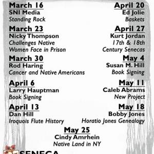 Spring Lecture Series 2017 at the Seneca Museum