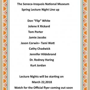 2018 Seneca Museum Spring Lecture Series