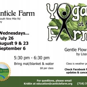 Yoga at Canticle Farm