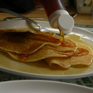 Unlimited Pancakes and Maple Syrup at Moore's