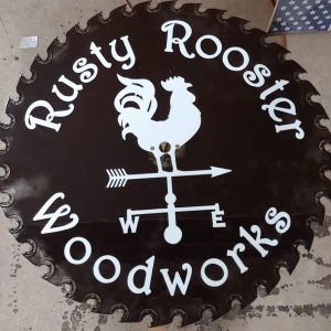Rusty Rooster Sign