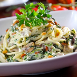 Photo of a pasta salad at Chef's Bistro Restaurant