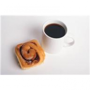 cinnamon roll  with coffee