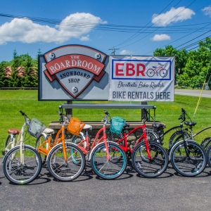 Photo of some of the bikes at Ellicottville Bike Rentals