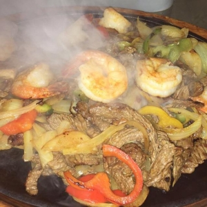 Steak and Shrimp Fajita at El Mariachi, Olean, NY