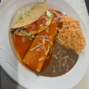 Mexican dish from Sombrero Mexican Restaurant