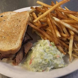 Housemade Brisket Sandwich at Hughes Hotel