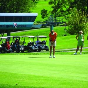 Golfing on the Double Black Diamond Course