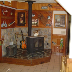 inside one of the chalets