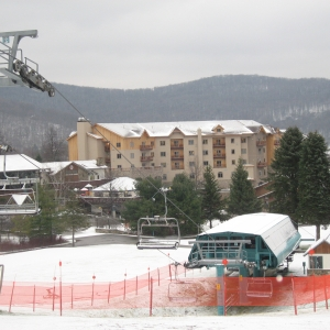 Photo of the Tamarack Club building at Holiday Valley