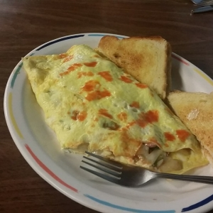 Omellette at Jackie's Village Restaurant