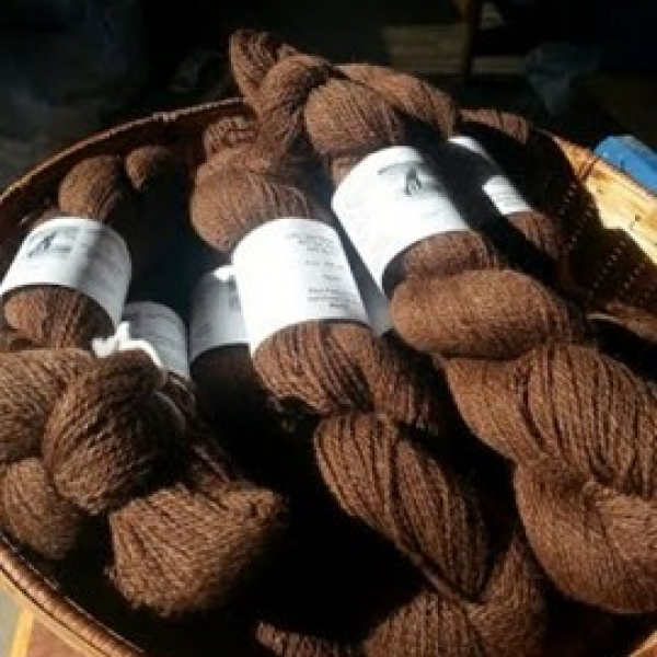 Cocoa colored yarn
