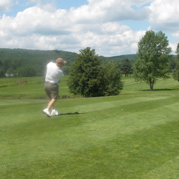 Photo of a golfer at Ischua Valley Country Club