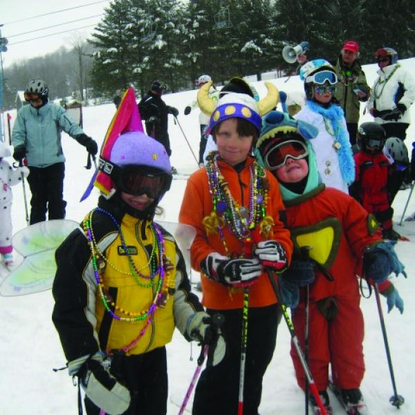 Kids celebrating Mardi Gras at HoliMont