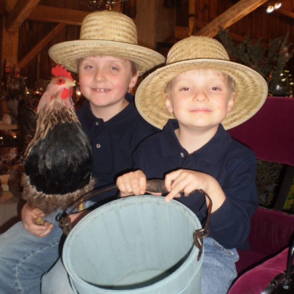 Boys having fun at Mystic Hill Olde Barn