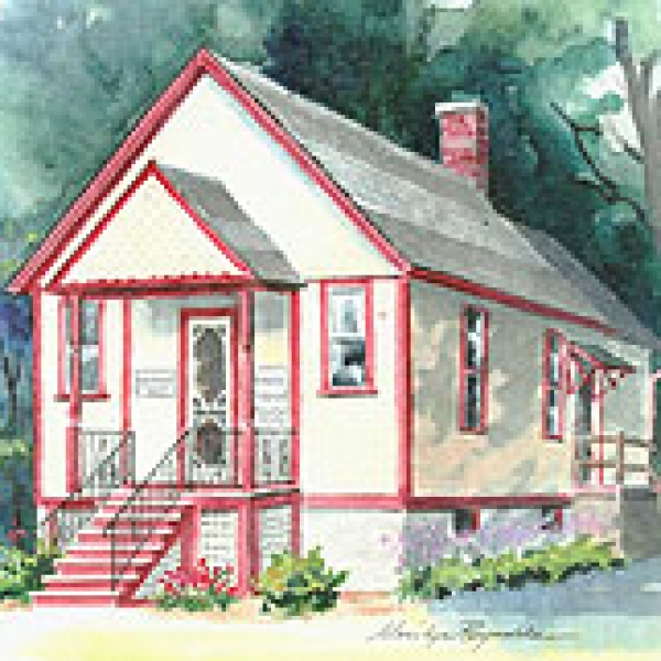 Painting of Portville Historical & Preservation Society