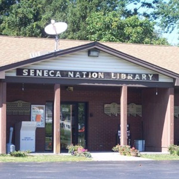 Photo of front of Library