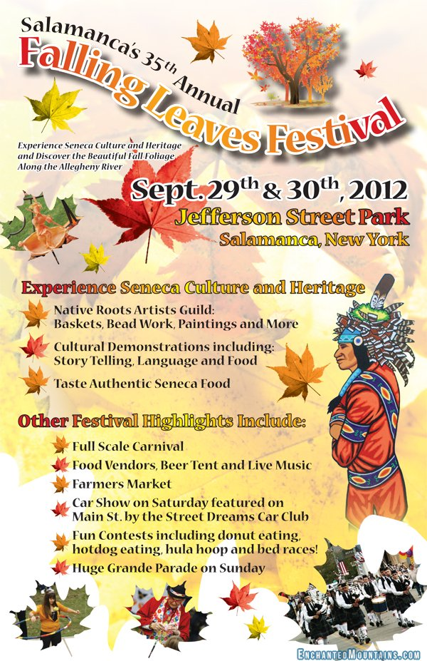 fall foliage map 2012 new york: Falling Leaves Festival poster