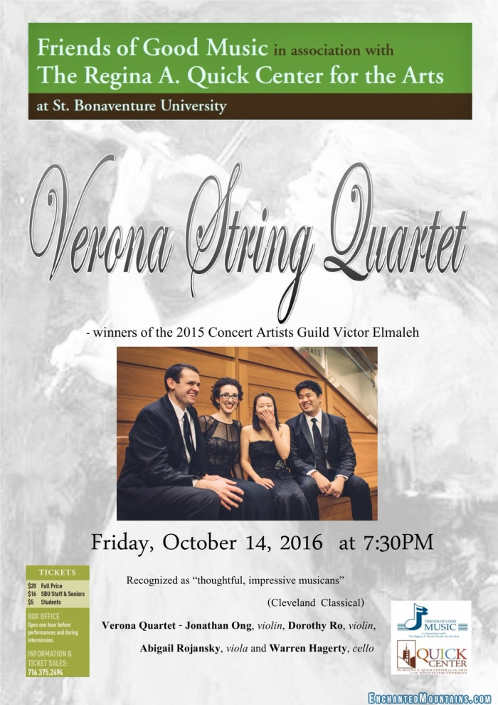 Friends of Good Music presents Verona String Quartet ...