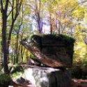 Balancing rock seen here during the fall season