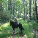 Alice on Horseback at Allegany State Park