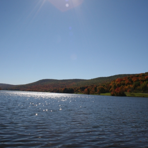Photo of Red House Lake at Allegany State Park in Autumn