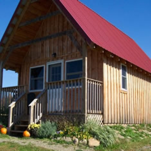 One of the cabins at Aim High Outdoor Adventures