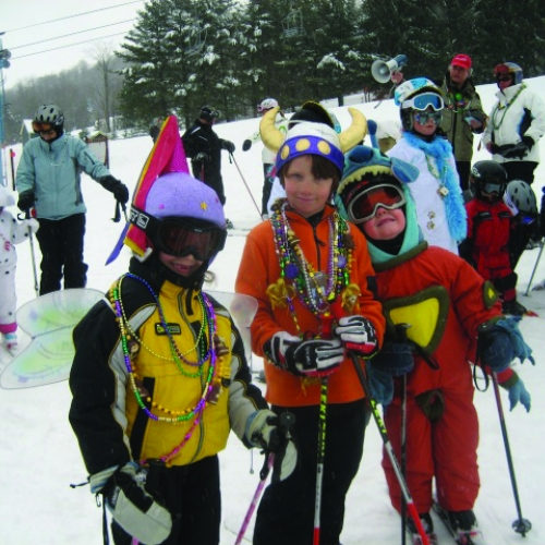 Kids celebrating Mardi Gras at HoliMont