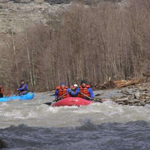 Rafting the Cattaraugus Creek