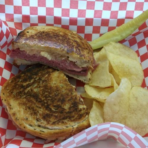 Reuben Sandwich at Corner Deli, Salamanca, NY