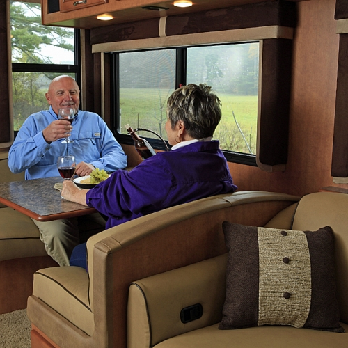 couple enjoying their RV