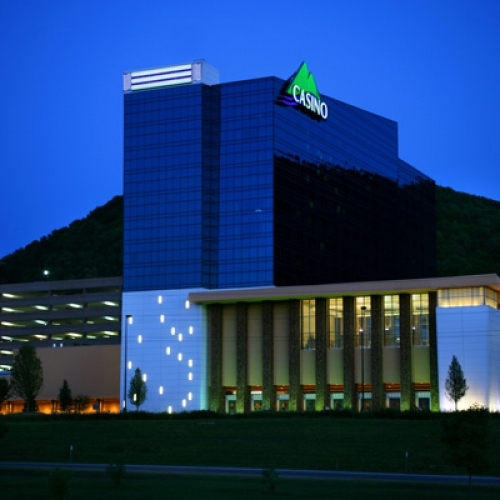An evening shot of the Seneca Allegany Casino exterior