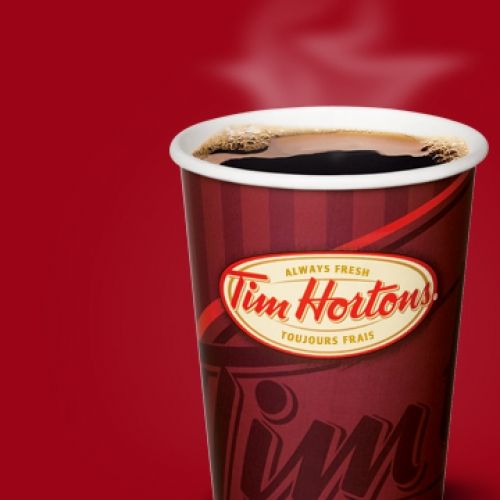 Enjoy a fresh coffee at Tim Horton's