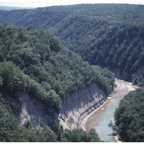 Aerial view of Zoar Valley