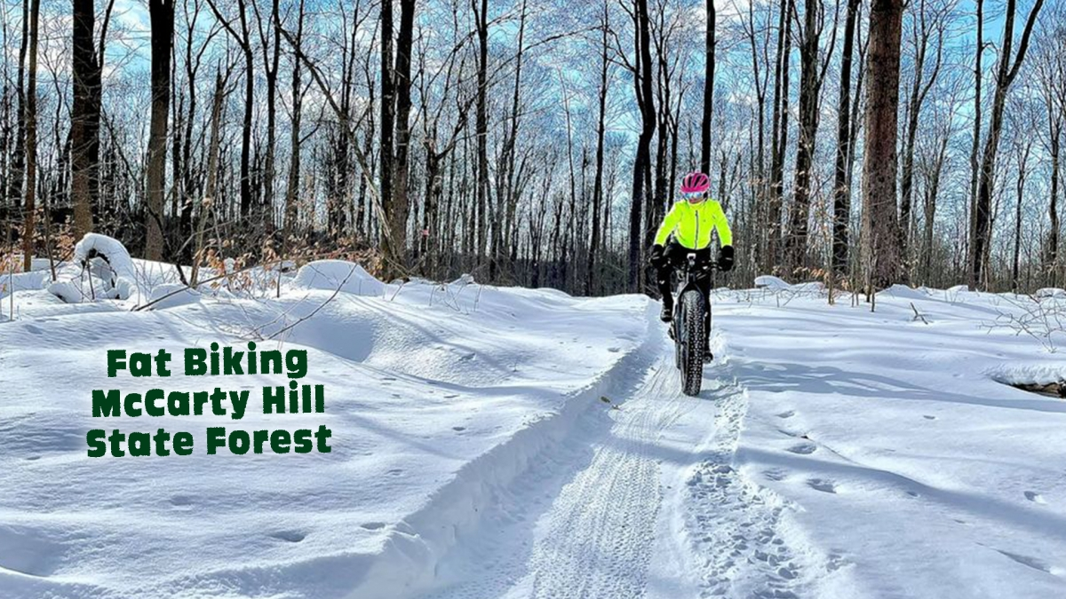 Fat Bike rider on groomed trail system
