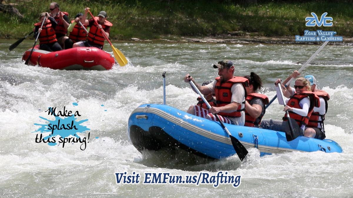 Rafting at Zoar Valley