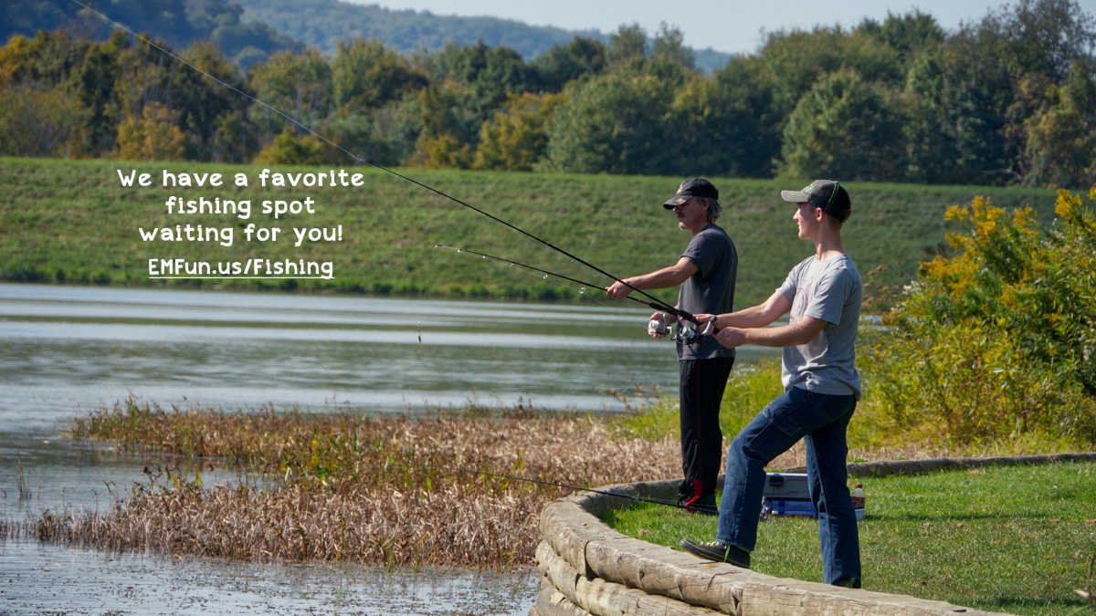 We have a favorite fishing spot waiting for you!