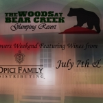 2017 Wine Lovers Weekend Packages at the Woods at Bear Creek