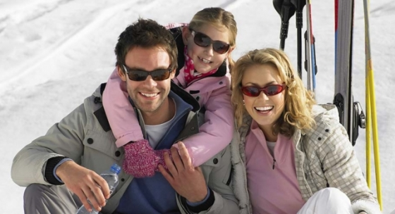 Family on the slopes