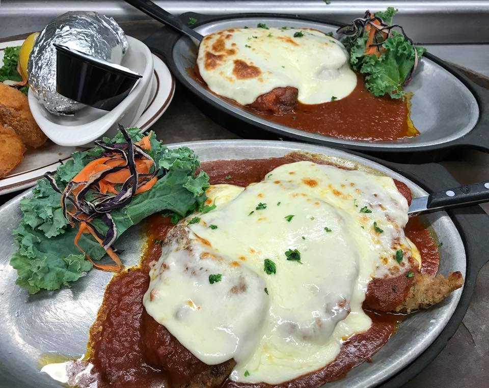 Veal and Chicken Parmigiana at Nic-L-Inn