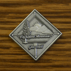 GeoCoin for the Enchanted Mountains GeoTrail