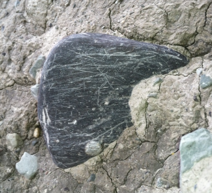 striations on rock at Otto stadial site