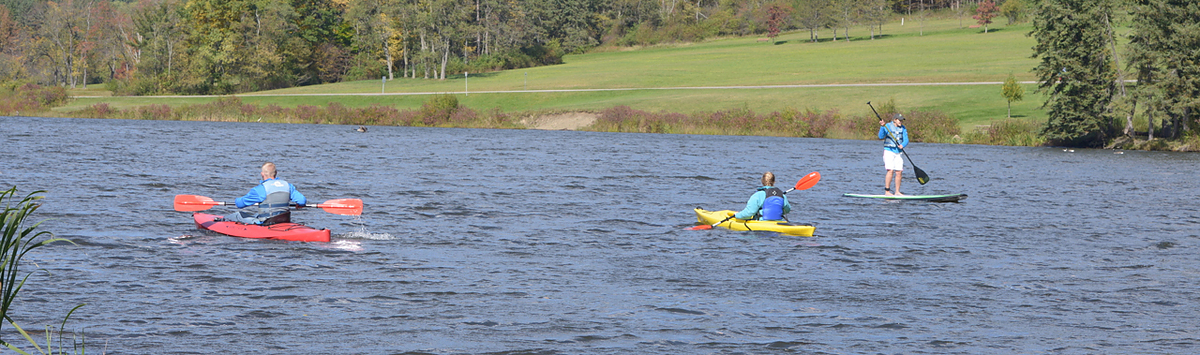 Kayaking and SUPing at Allegany State Park in the Fall of 2014