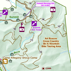 Art Roscoe Mountain Biking Trails at Allegany State Park