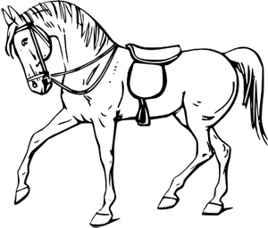 Walking Horse outline