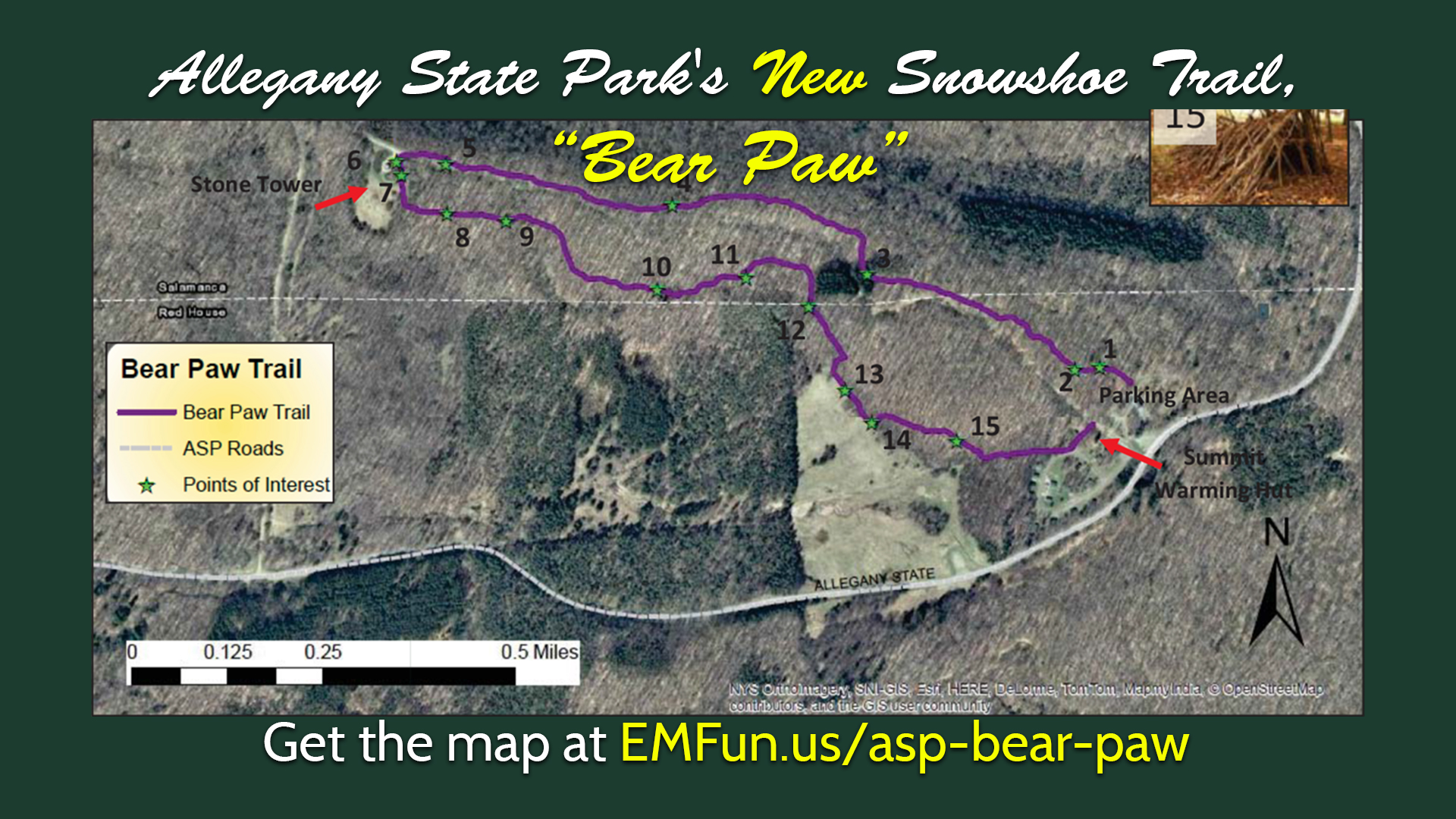 Map of the new trail!