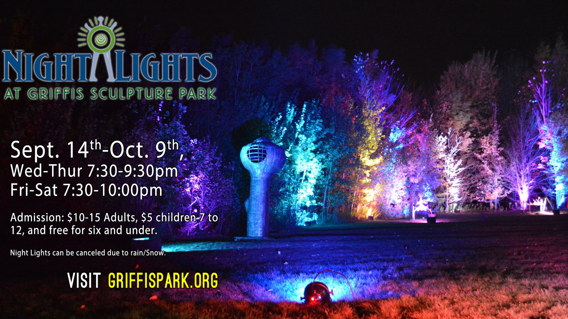 Night Lights returns to Griffis Sculpture Park
